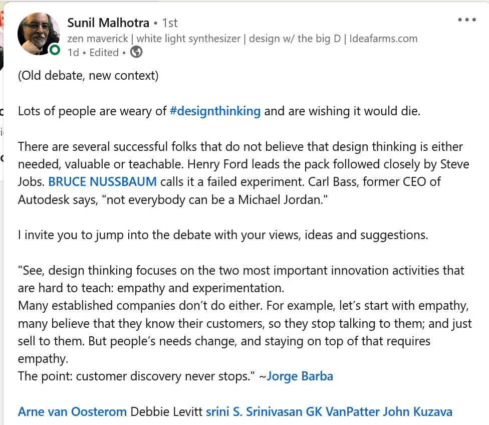 design thinking not a cookie cutter template