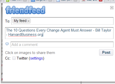 friendfeed bookmarklet