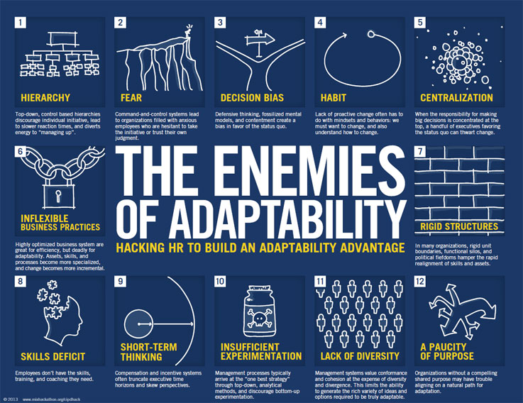 the enemies of adaptability