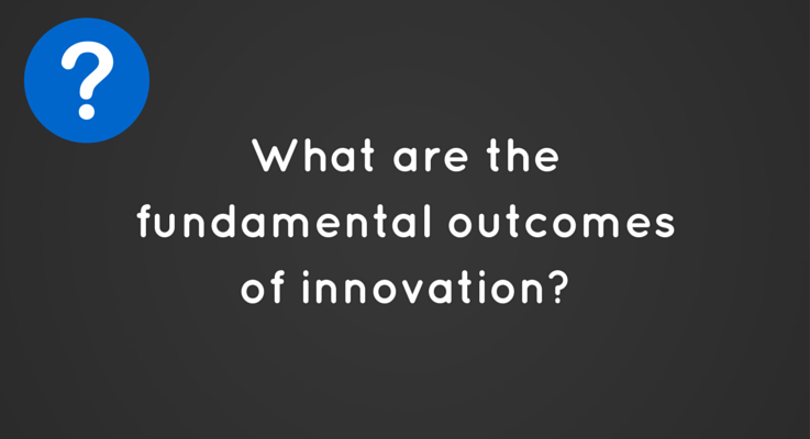 What are the fundamental outcomes of innovation